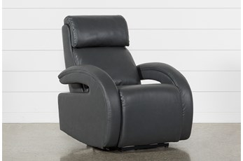 Cassie Smoke Power Recliner With Power Headrest, Power Lumbar & USB