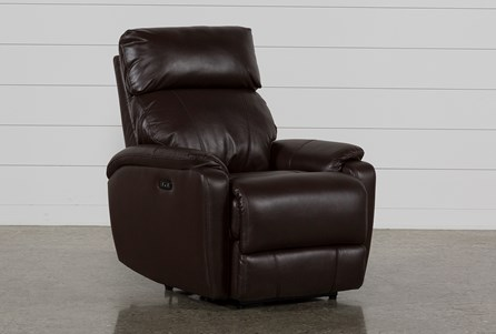 Connie Espresso Power Recliner W/Power Headrest & Usb