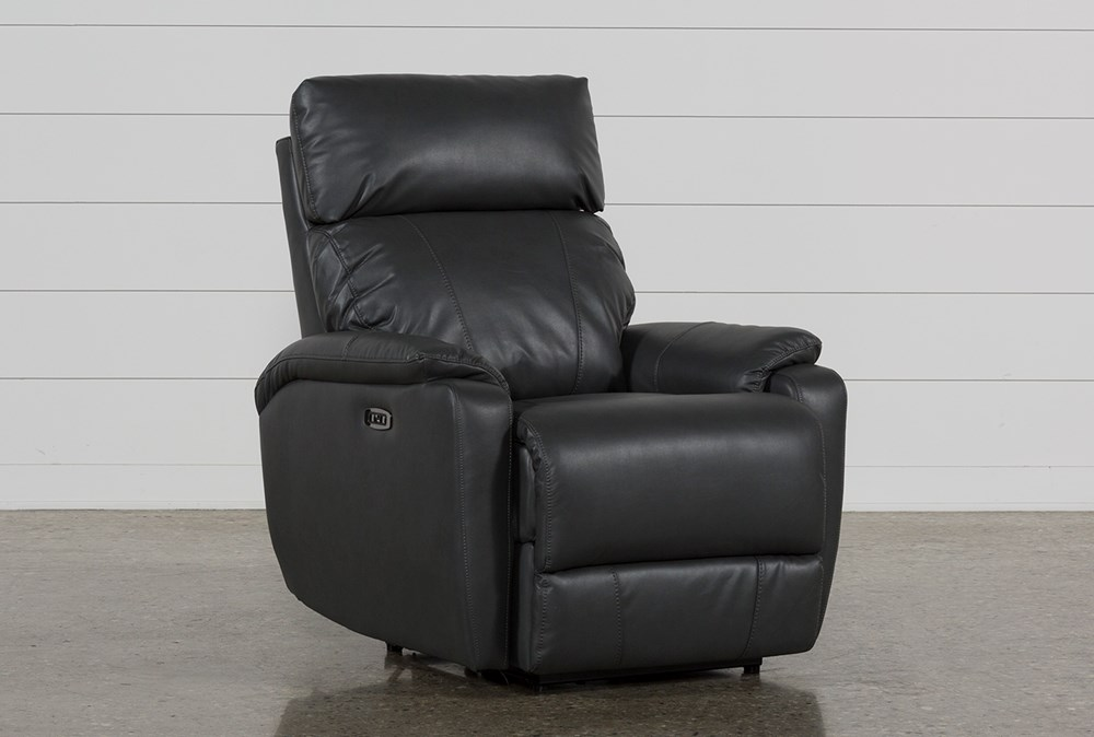 Connie Smoke Power Recliner With Power Headrest & Usb