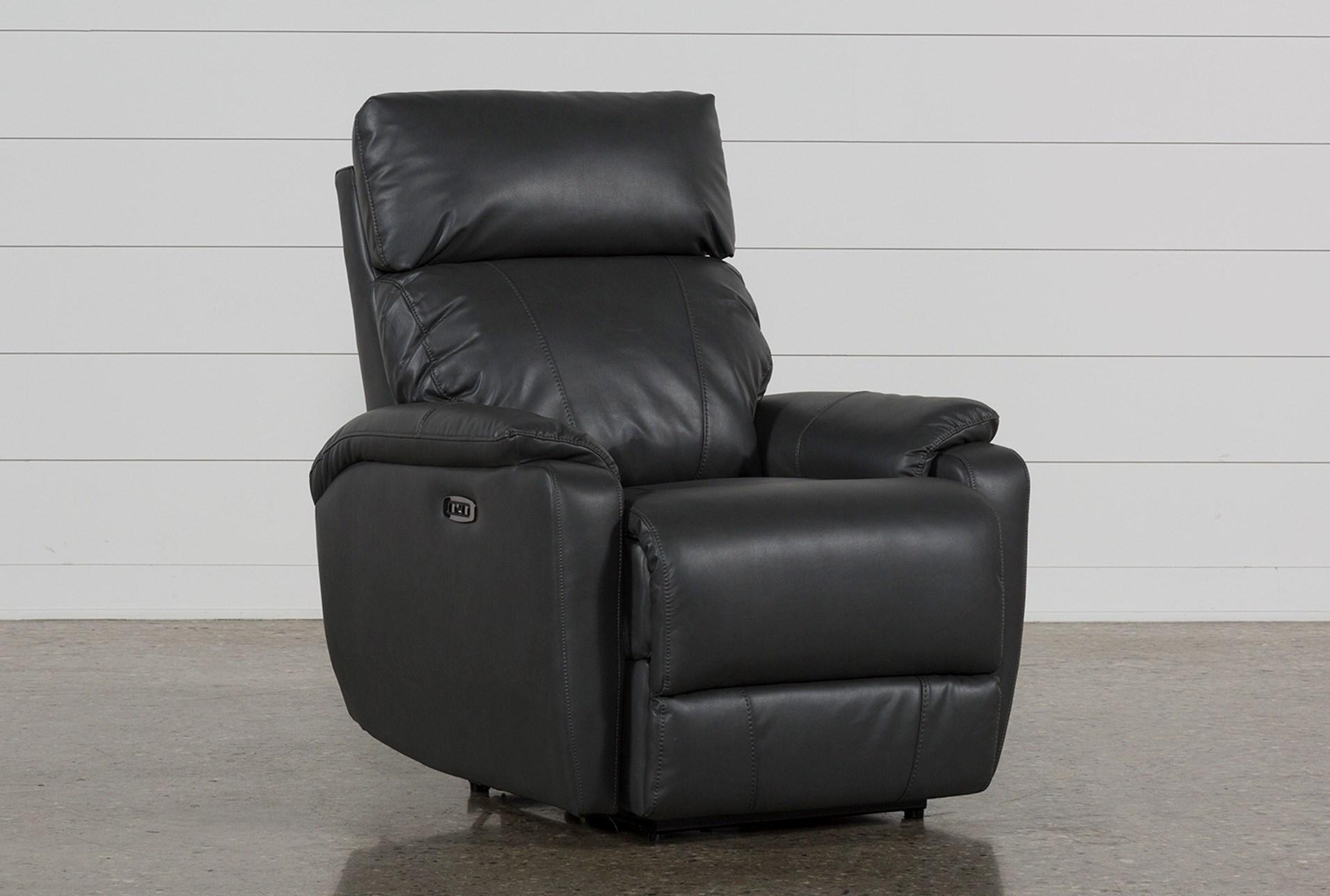 Marvelous Connie Smoke Power Recliner With Power Headrest Usb Machost Co Dining Chair Design Ideas Machostcouk
