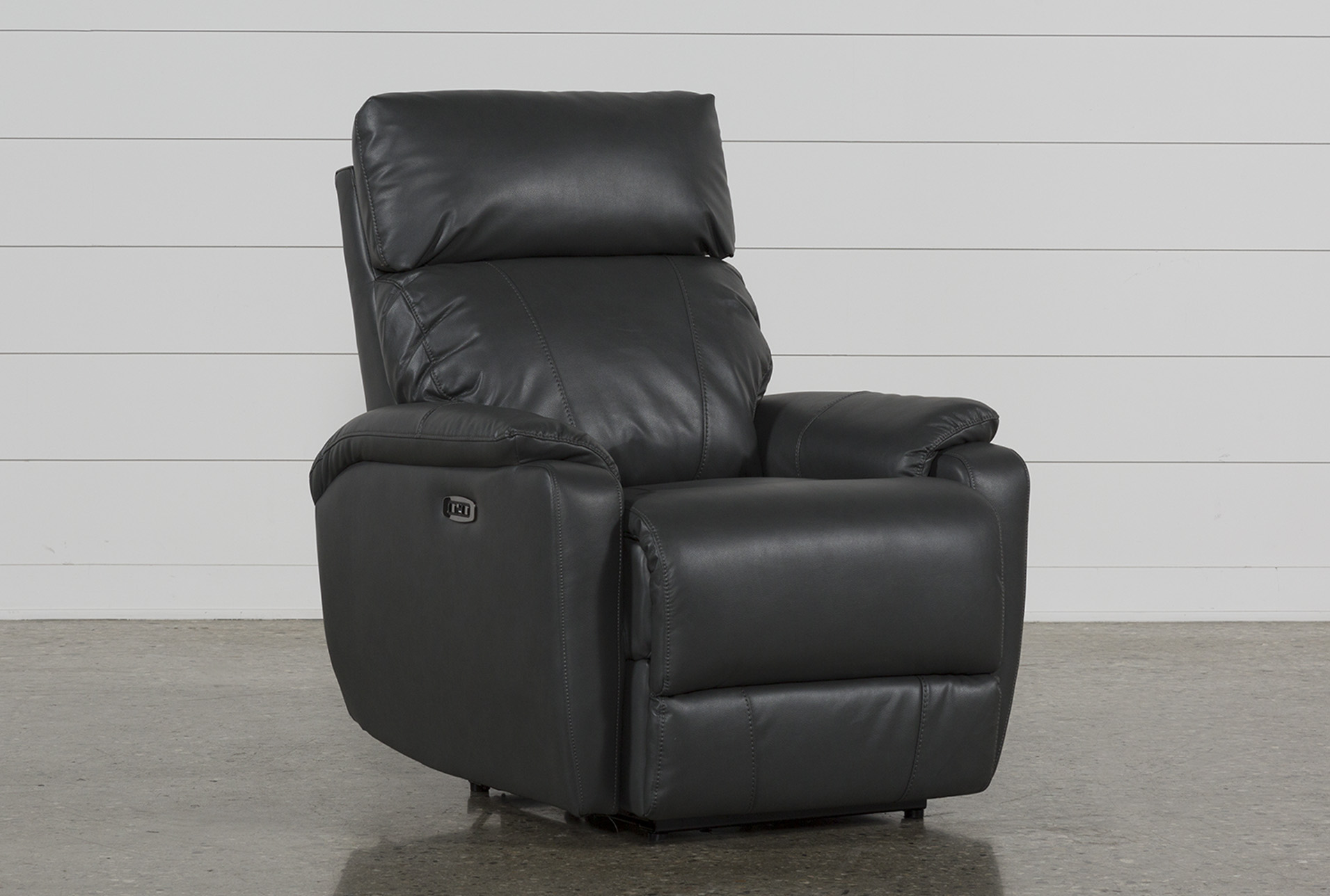 Charmant Connie Smoke Power Recliner With Power Headrest U0026 Usb