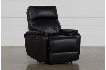 Connie Midnight Power Recliner With Power Headrest & Usb
