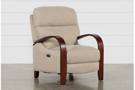 Camila Tan Power Recliner W/Power Headrest & Usb