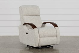 Clare Linen Power Recliner W/Power Headsrest & Usb