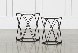 Olivia 2 Piece Set Bunching Accent Tables