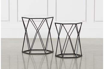 Olivia 2 Piece Set Nesting Accent Tables