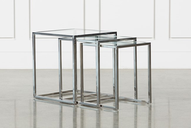 Mila 3 Piece Set Nesting Accent Tables - 360