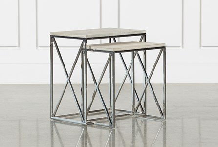 Nora 2 Piece Set Nesting Accent Tables