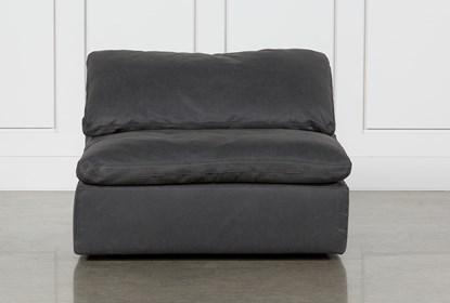 Groovy Hidden Cove Grey Leather Swivel Armless Chair Creativecarmelina Interior Chair Design Creativecarmelinacom
