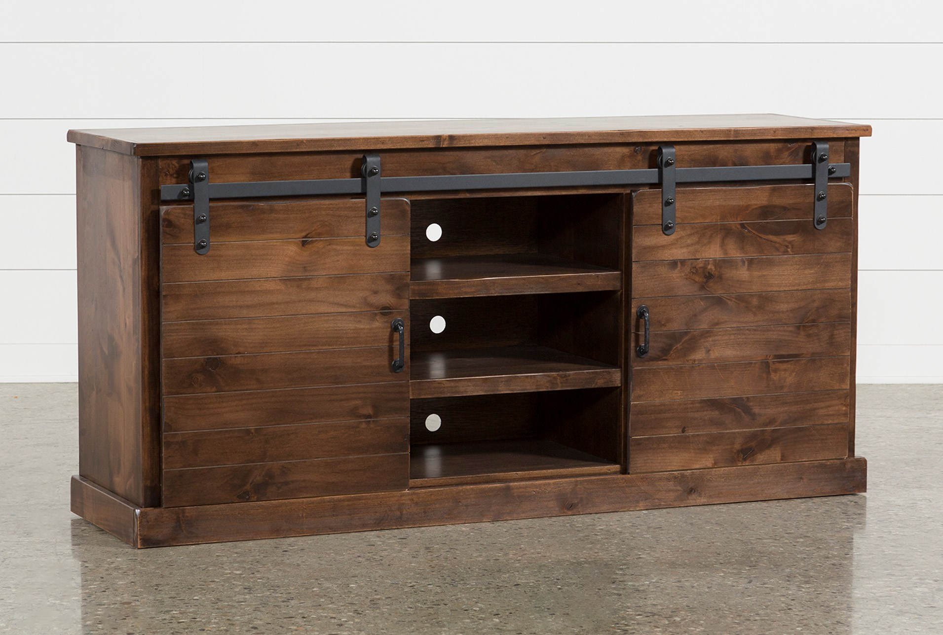 Noah Aged Whiskey 66 Inch Tv Stand Living Spaces
