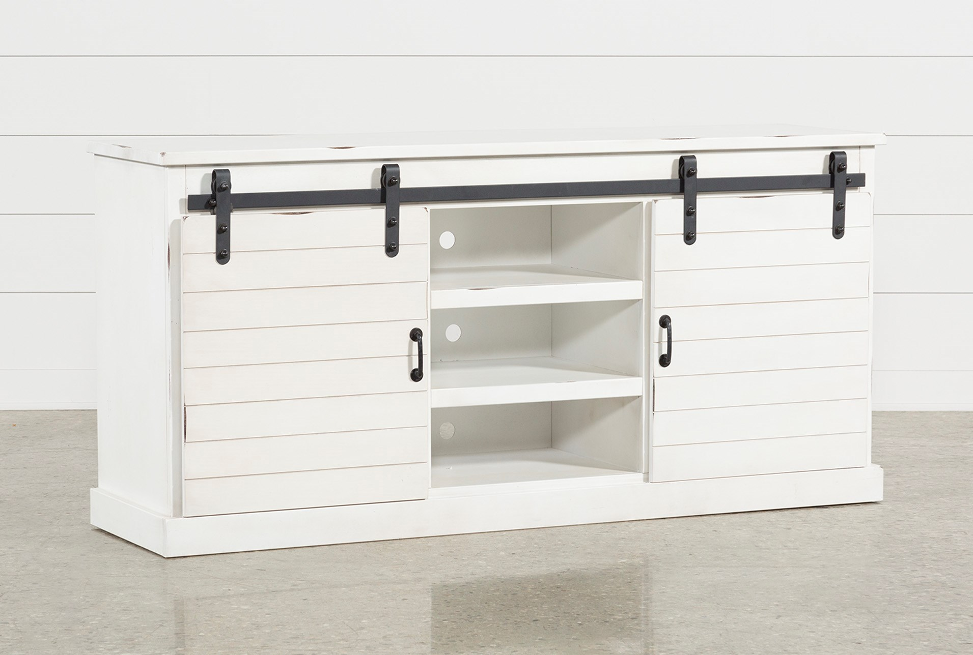 Noah Rustic White 66 Inch Tv Stand Living Spaces