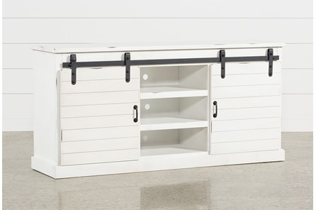 Noah Rustic White 66 Inch TV Stand - Main