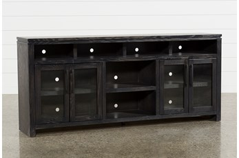 Oxford 84 Inch TV Stand With Glass Doors