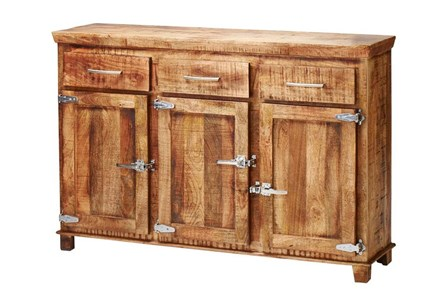 Reclaimed 3 Drawer Icebox Sideboard