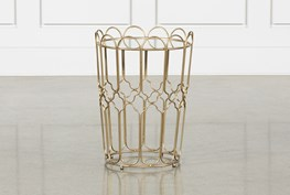 Waves Gold Accent Table