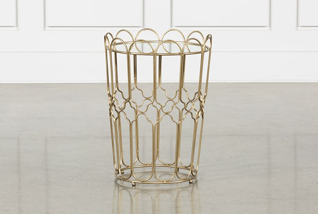 Waves Gold Accent Table - 360