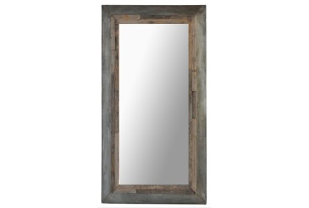 Vintage Cement Finish Mirror Frame With Mirror