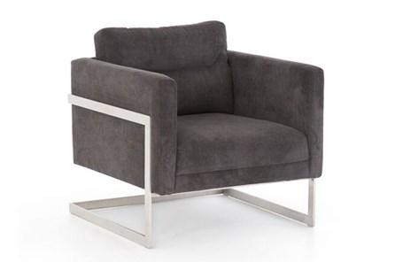 Charcoal Corduroy Chair