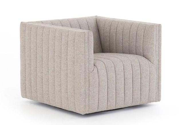 Grey Channel Swivel Chair - 360