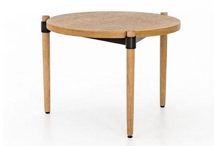OTB SMOKED OAK SIDE TABLE