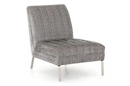Armless Smoke Herringbone Chair