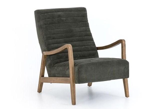 Dark Olive Industrial Chair - 360