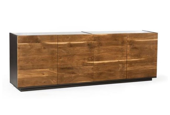 Dark Smoked Oak With White Marble Top Sideboard - 360