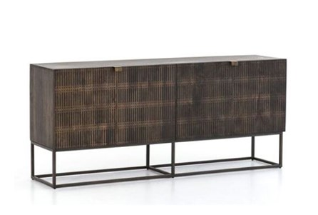 Vintage Brown Textured Sideboard