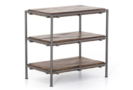 Tiered Gunmetal End Table