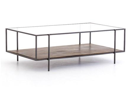 Aged Wood & Gunmetal Coffee Table - Main