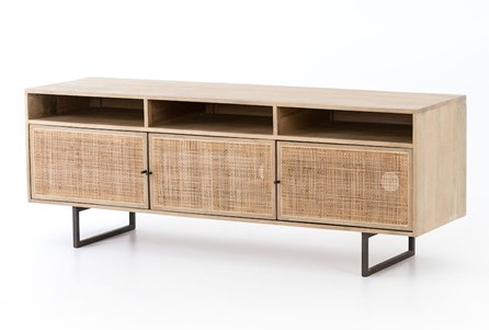 Natural Cane Media Console