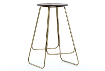 Light Aged Brass Counter Stool