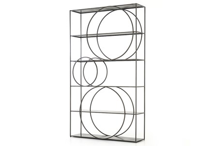 Gunmetal Bookcase