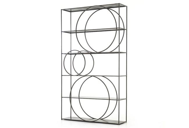 Gunmetal Bookcase - 360