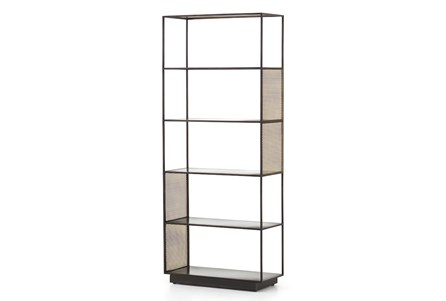 Gunmetal Perforated Brass Bookshelf