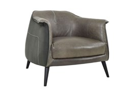 Grey Exposed Stitch Club Chair