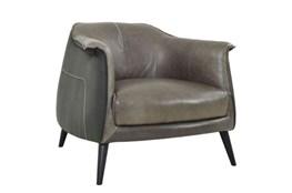 Grey Exposed Stitch Club Chair