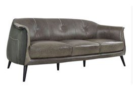 Curved 3 Seater Grey Sofa