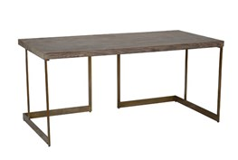 Reclaimed Pine Iron Brown Desk