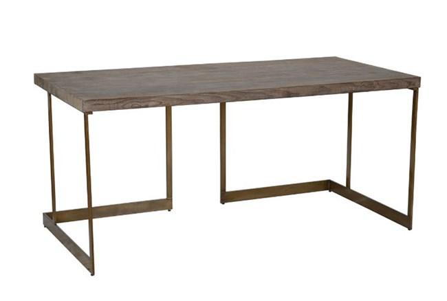 Reclaimed Pine Iron Brown Desk - 360
