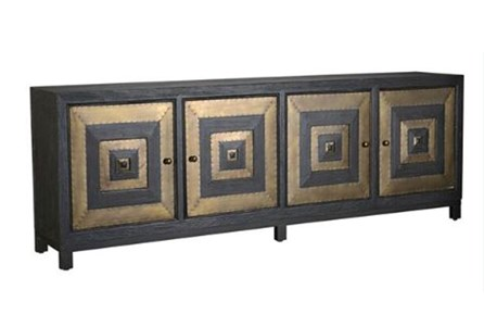 Square Brass 4 Door Sideboard