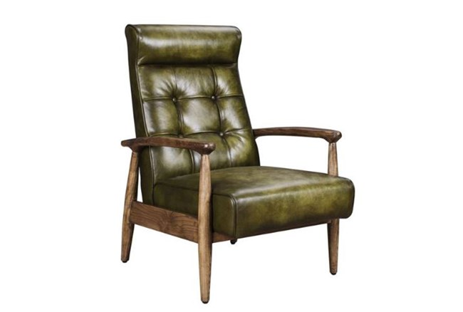 Hunter Green Club Chair - 360
