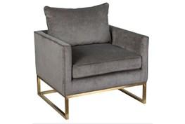 Grey Platinum Club Chair