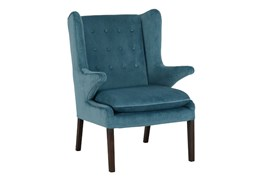 Mid Century Blue Accent Chair