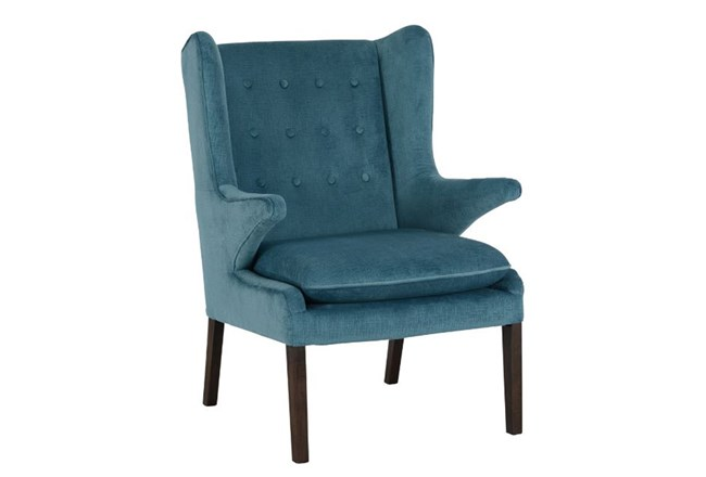 Mid Century Blue Accent Chair - 360