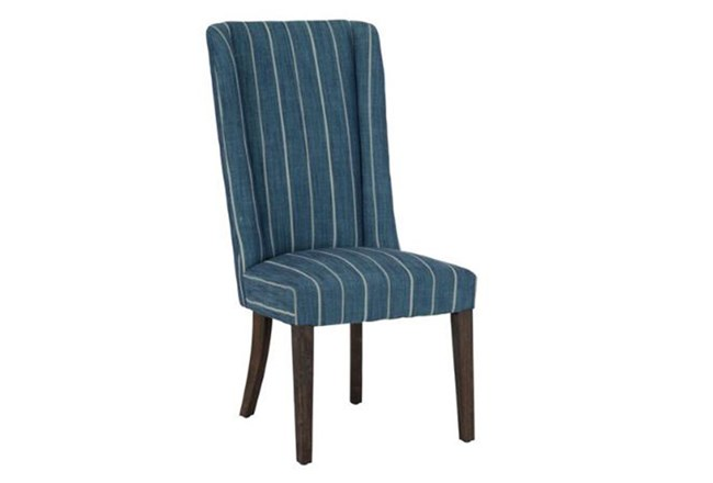 Blue Stripe Dining Chair - 360