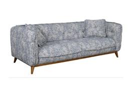 Curved Printed Blue Sofa