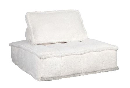 Sherpa White Floor Seating