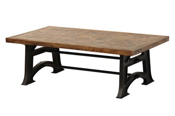 Layered Wood Small Coffee Table