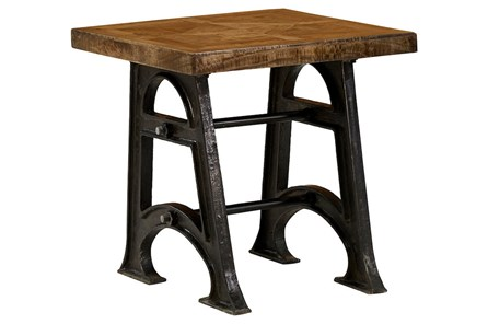 Industrial Legs End Table